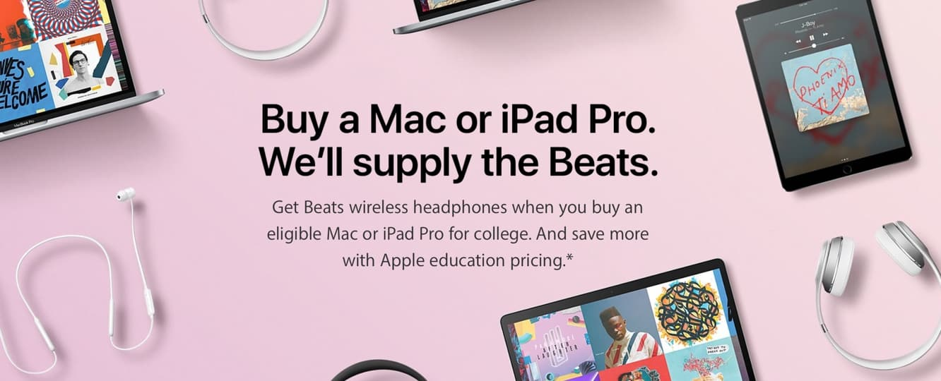 Apple announces 2017 Back to School Promo, offering free Beats headphones with Mac purchase