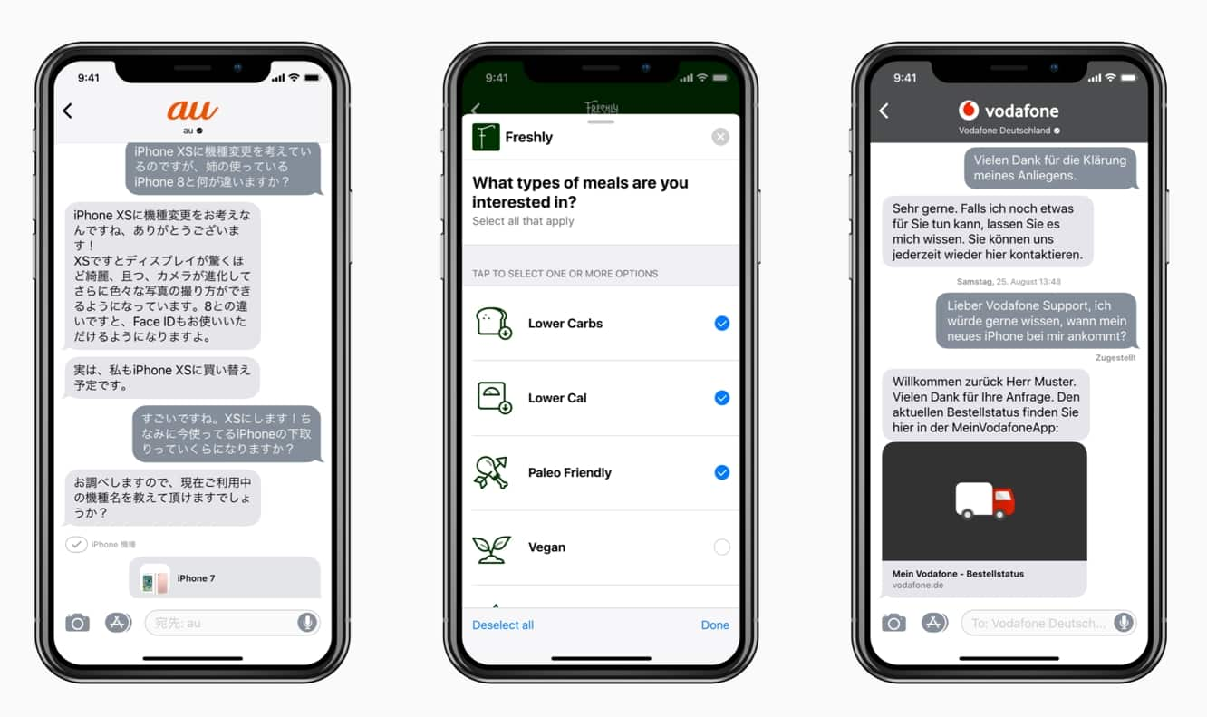 Apple expands Business Chat to ten additional countries