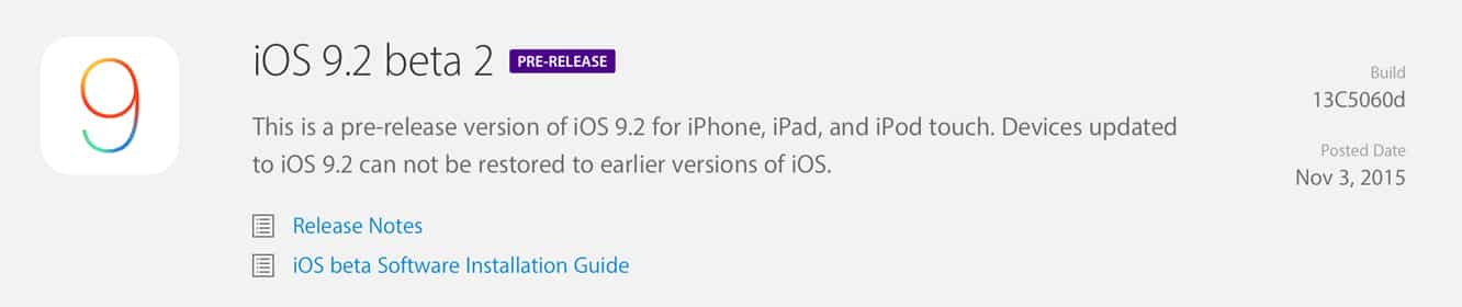 Apple releases iOS 9.2 beta 2 to developers