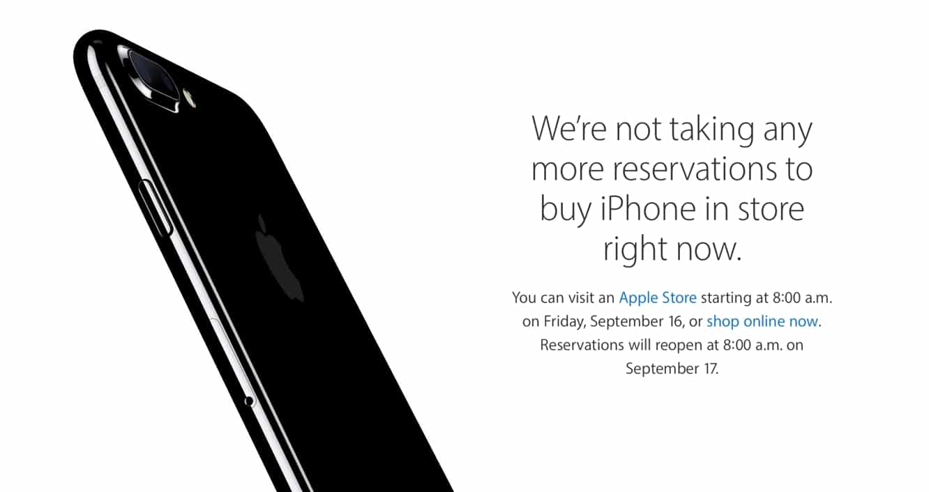 Apple to resume iPhone 7 'Reserve and Pickup' on Sept. 17 in U.S., U.K.
