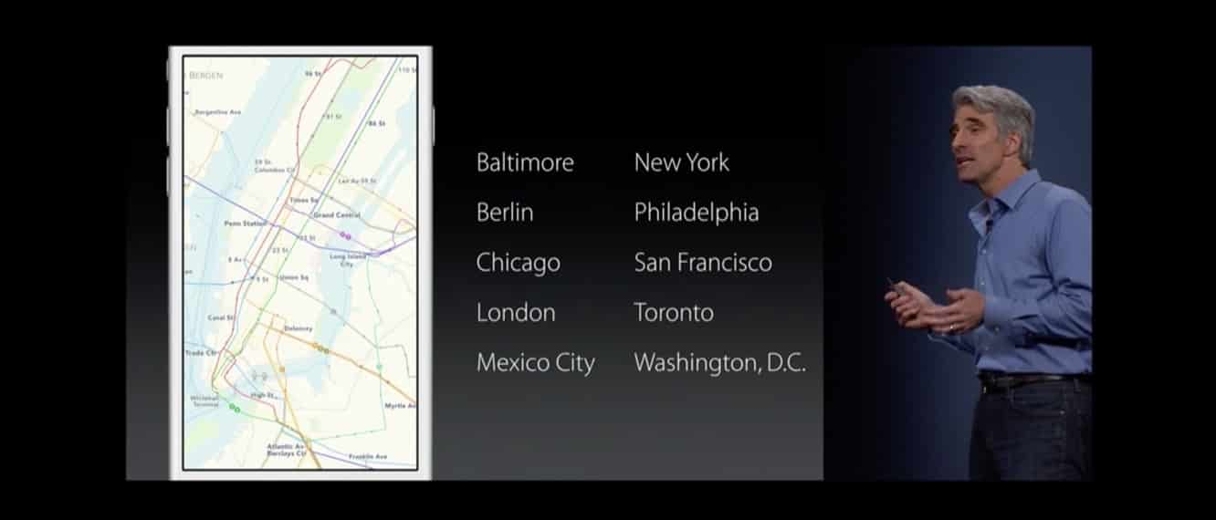 iOS 9 Transit goes beyond core cities