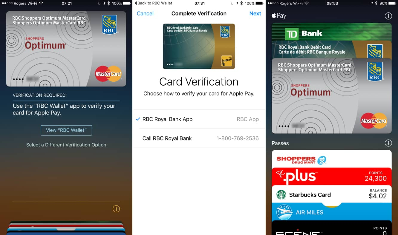 Apple Pay in Canada now supporting Visa, MasterCard