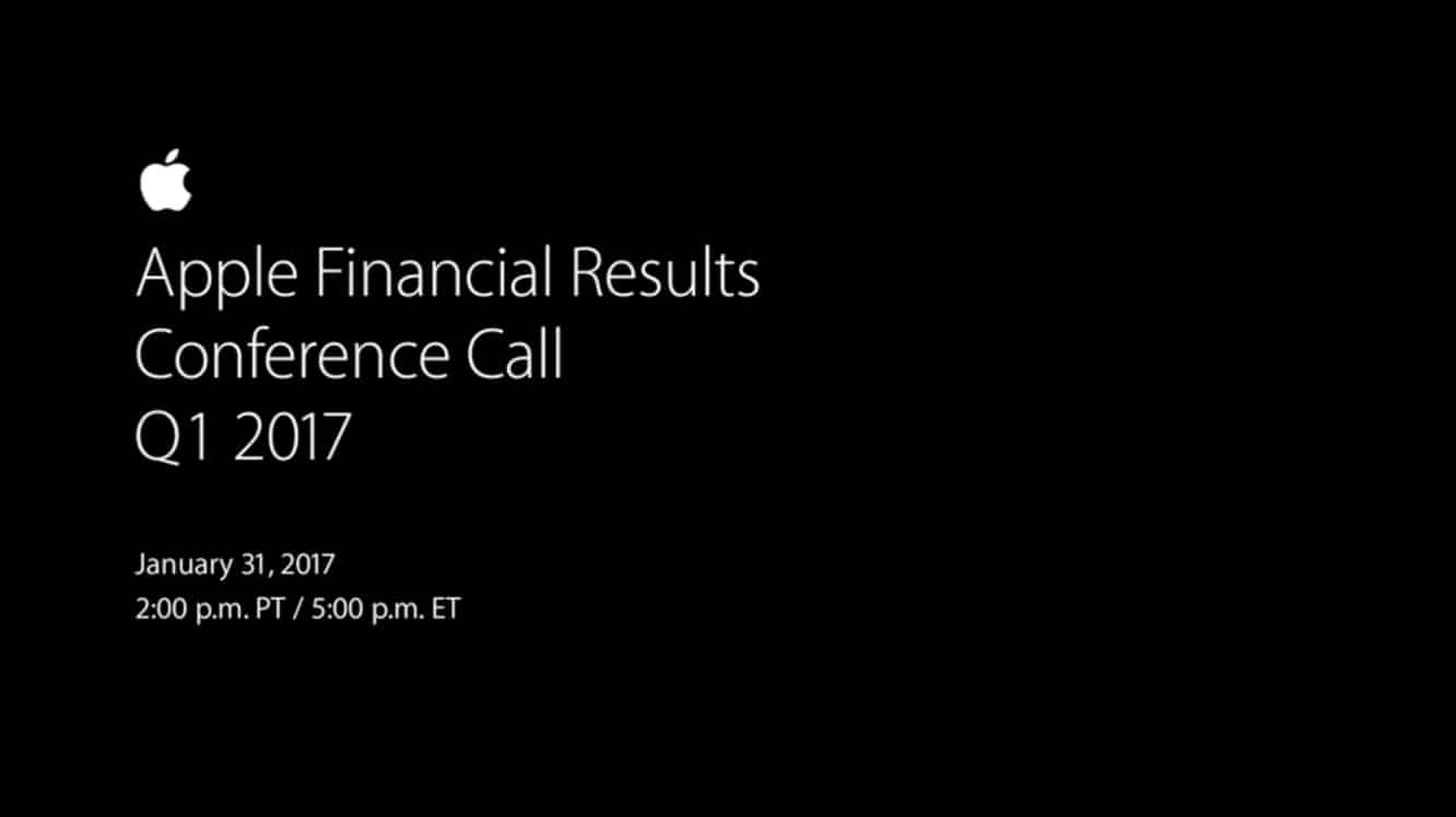 Notes from Apple's Q1 2017 earnings call