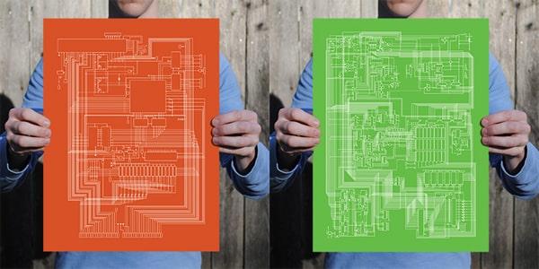 City Prints Apple I + II Schematic Prints