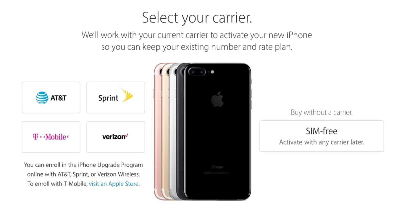 Apple begins sale of 'SIM-free' unlocked iPhone 7 models in the U.S.