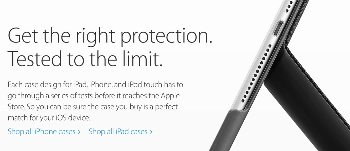 Apple debuts 'Apple Tested Cases' web page