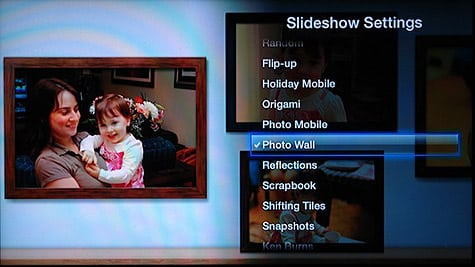 Changing your Apple TV slideshow settings