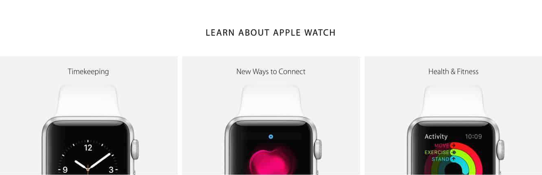Apple highlights more Apple Watch info
