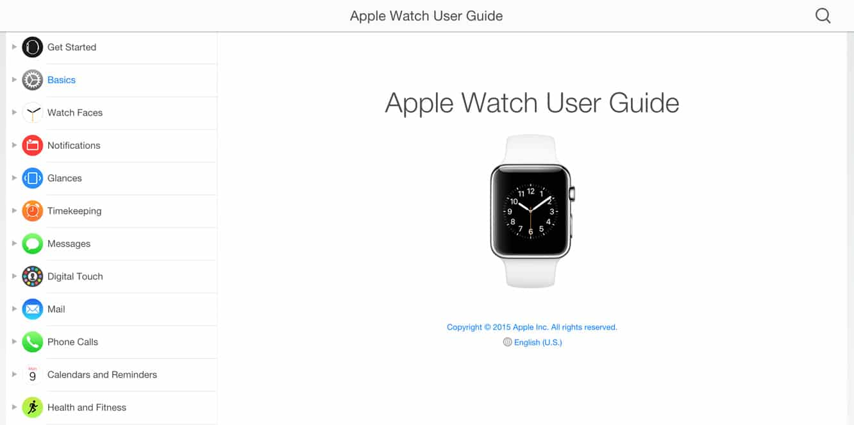 Apple posts Apple Watch User Guide