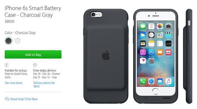 Apple unveils its first official battery case for iPhone 6s