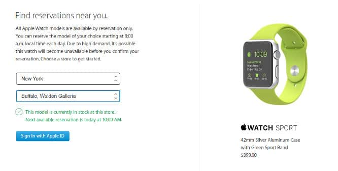 Apple Watch available for in-store pickup in some US states, UK, Canada, Australia
