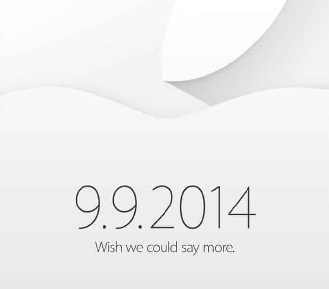 Apple sends out invites to September 9 event