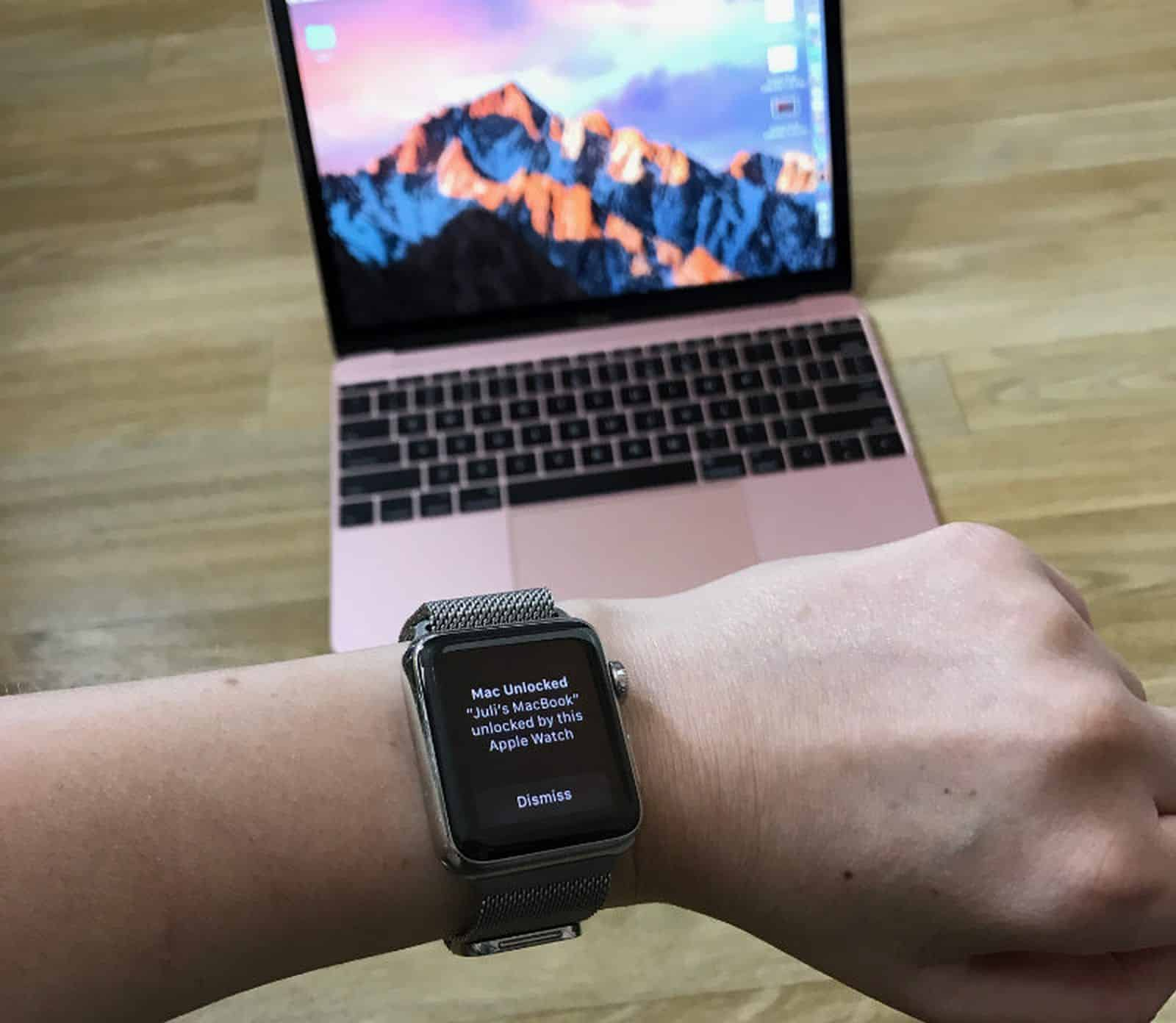 Apple Watch unlocks Mac