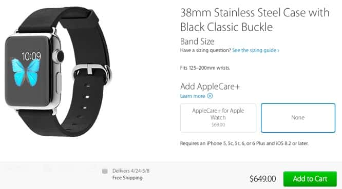 Apple Watch models sell out quickly, shipping estimates now 4-6 weeks or later