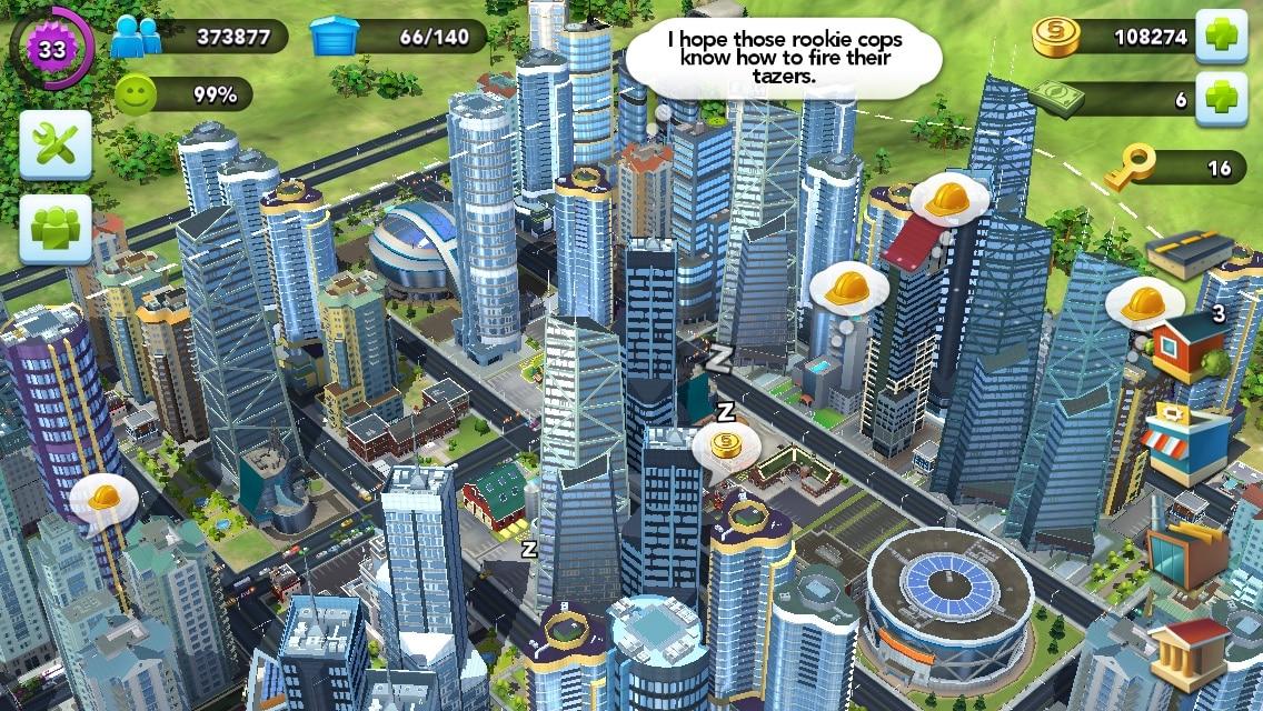 Carousel, Fleksy, Modern Combat 5: Blackout, Workflow, Shazam, SimCity BuildIt