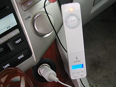 Review: XtremeMac AirPlay FM Transmitter for iPod shuffle