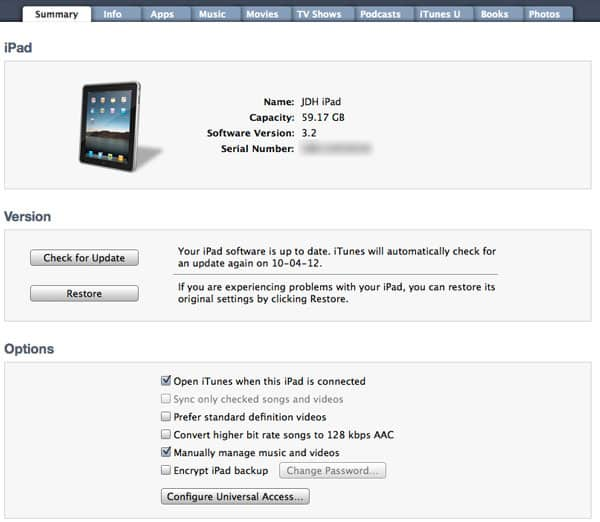 Syncing one iPad to multiple libraries