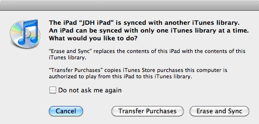 Setting up an iPad as a gift