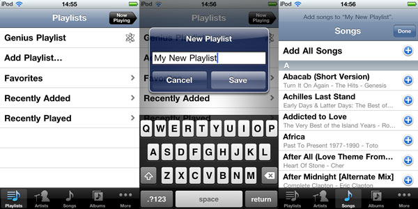 On-The-Go Playlists with iOS 4