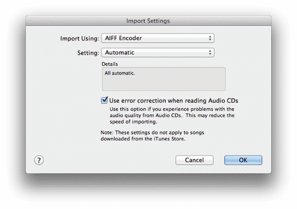 Track information not appearing when importing into iTunes