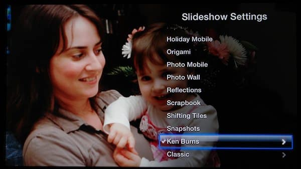 Setting up Apple TV Slideshows to fill the screen