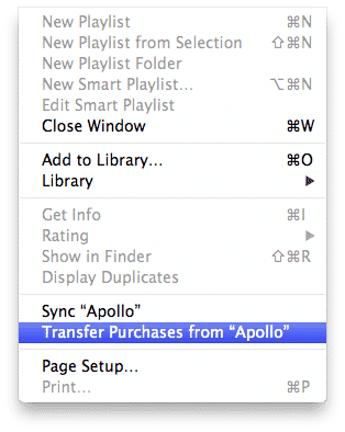 Backing up apps from an iPod touch