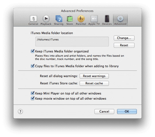 Recovering iTunes from an External Hard Drive