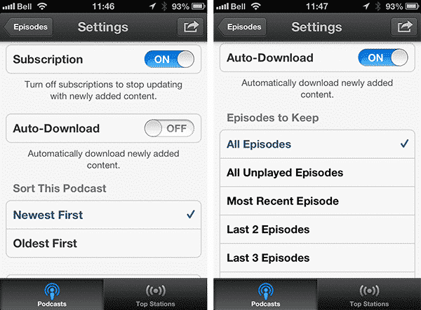 Auto-deleting Episodes in iOS Podcasts App