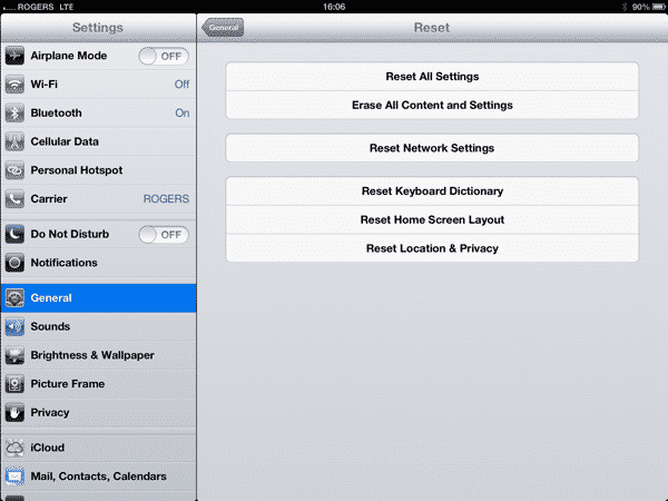 Problems activating Personal Hotspot on iPad