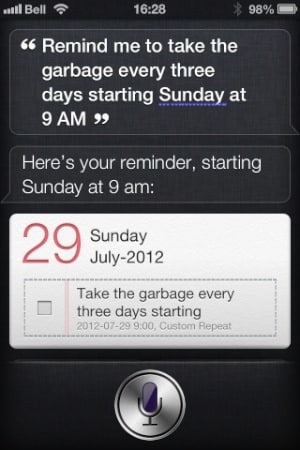 Setting Custom Repeat Intervals in the Reminders app