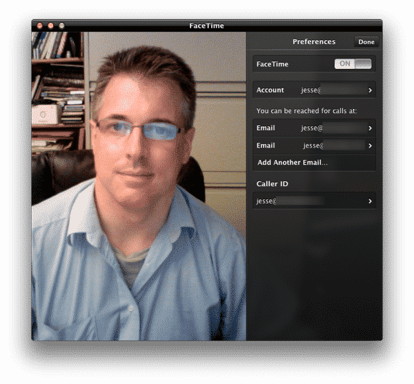 Switching Apple IDs on FaceTime for Mac