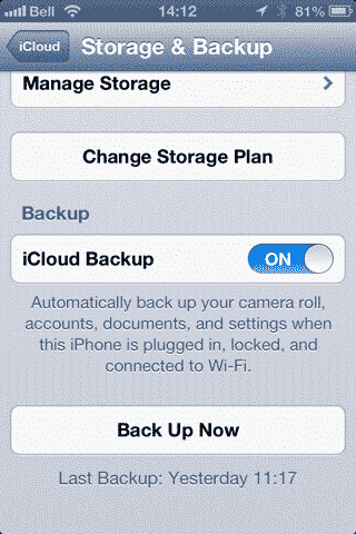 Manually Backing up your iOS device