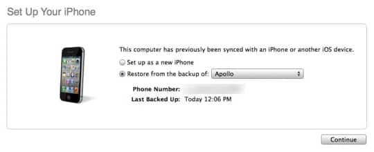 Transferring data to a new iPhone 5 without iCloud