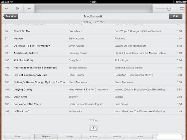 Manually downloading iTunes Match content on iPad