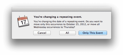 Scheduling irregularly recurring events