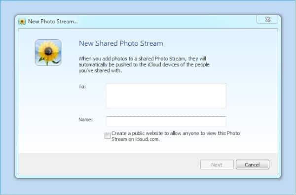 Using Shared Photo Streams on Windows 7