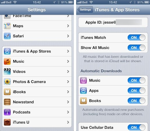 Switching to a new iTunes account with existing content