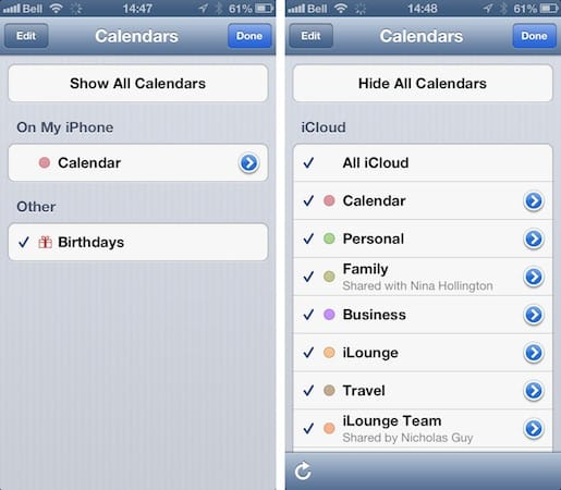 Calendar entries disappear after enabling iCloud
