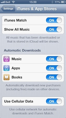 Sharing iBooks between iOS devices
