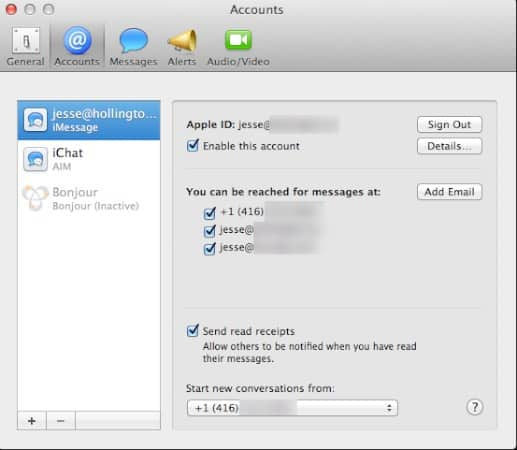 Disabled iMessages on iPhone still appearing on Mac
