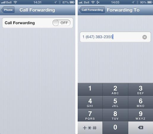 Sending all iPhone calls to voicemail