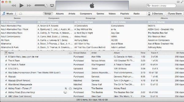 Accessing Composers View in iTunes 11.0.2