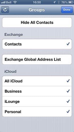 Choosing an account when creating a new contact