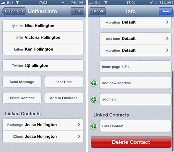 Setting default account for new Contacts