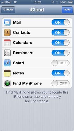 Re-enabling Find My iPhone