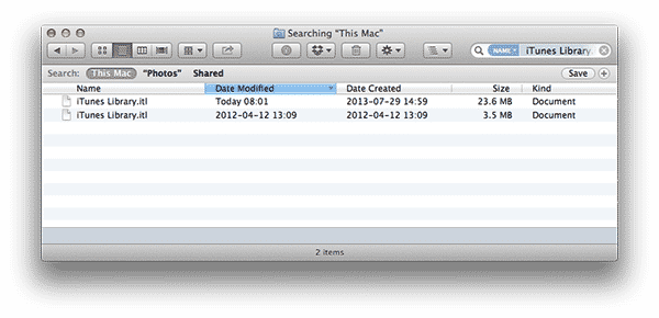 iTunes library disappears after enabling iCloud