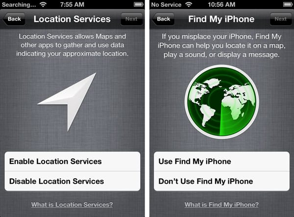 Re-enabling Find My iPhone after Factory Reset