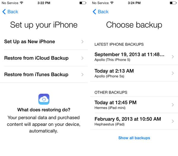 Restoring iCloud backup to a second iPhone