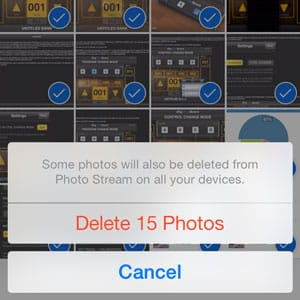iOS 7: Delete photos from Camera Roll without removing from Photo Stream