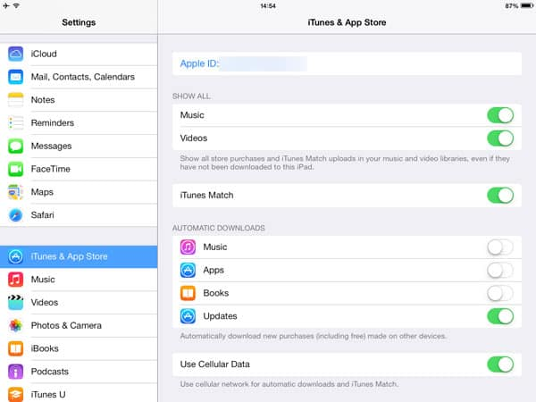 Splitting purchased content between two iPads